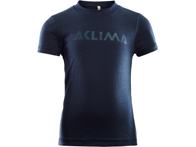Aclima LightWool T-Shirt Enfant, navy blazer